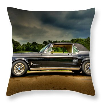 67 Mustang Throw Pillow
