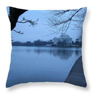 Throw Pillow featuring the photograph A Blue Morning For Jefferson by Cora Wandel