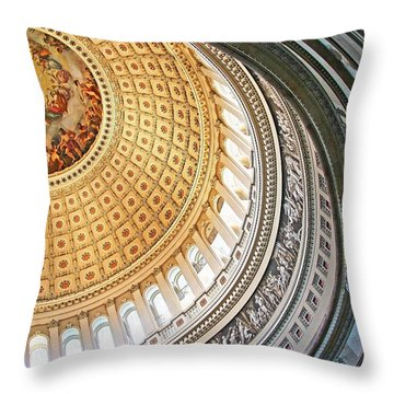 Throw Pillow featuring the photograph A Capitol Rotunda by Cora Wandel