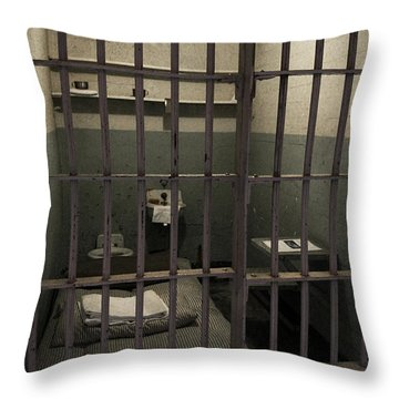A Cell In Alcatraz Prison Throw Pillow