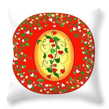 A Family Mandala Throw Pillow