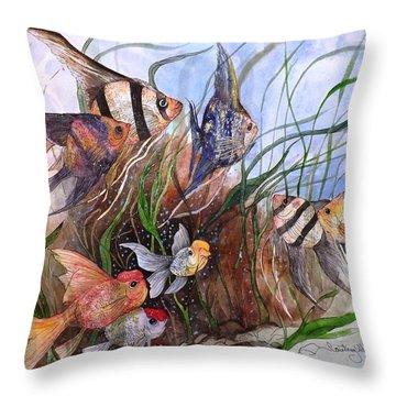 A Fishy Tale Throw Pillow