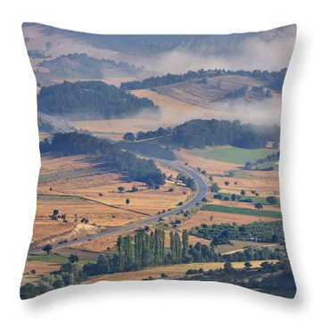A Foggy Day Throw Pillow by Ayhan Altun
