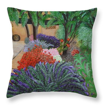 A Garden To Remember Throw Pillow