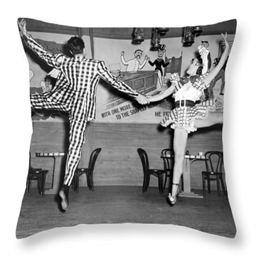 A Lively Dance Performance Throw Pillow