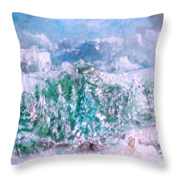 A Natural Christmas Throw Pillow