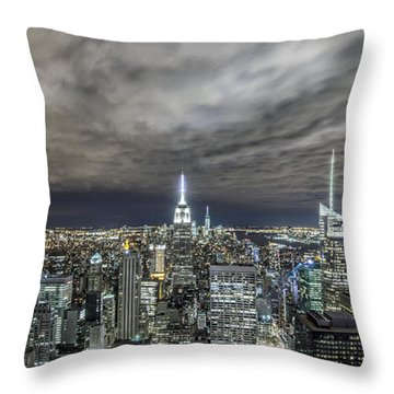 A Night In Nyc Throw Pillow