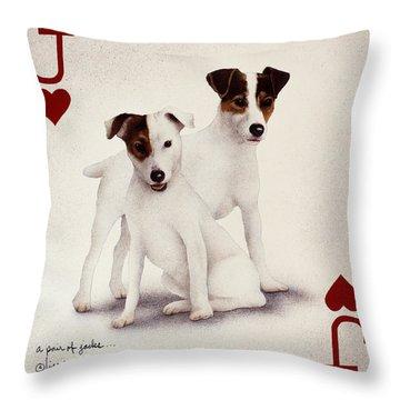 A Pair Of Jacks... Throw Pillow