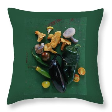 A Pile Of Vegetables Throw Pillow