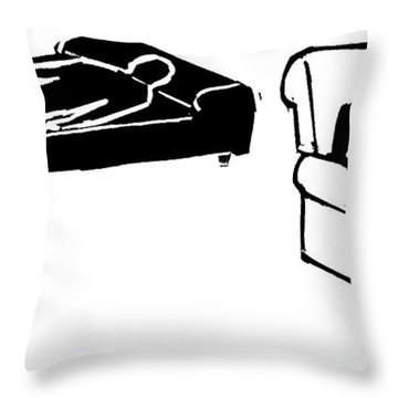 A Psychiatrist Sits With His Patient Throw Pillow