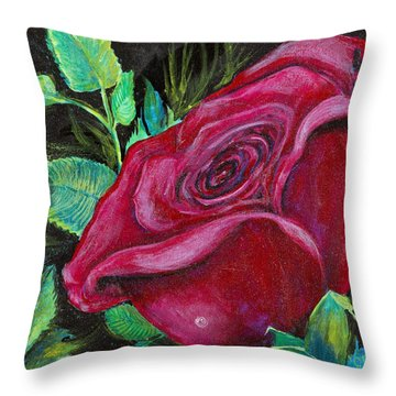 A Rose For My Lily Throw Pillow