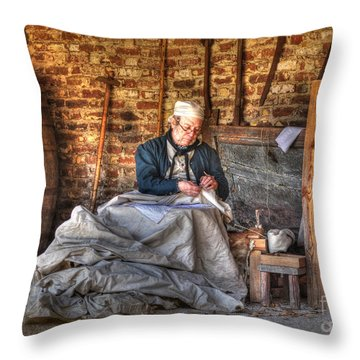 A Stitch In Time Throw Pillow by Kathy Baccari