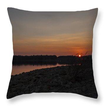 A Stones Throw Throw Pillow by CJ Schmit