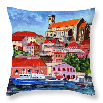 A View Of The Carenage Throw Pillow