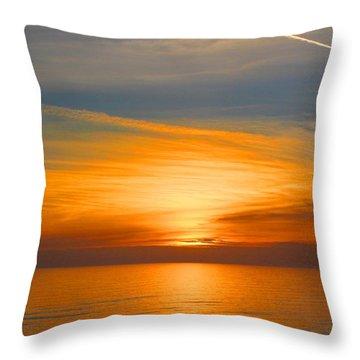 A Walk At Sunset Throw Pillow