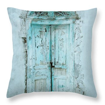 Throw Pillow featuring the photograph Abandoned Doorway by Donna Corless
