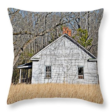 Throw Pillow featuring the photograph Abandoned by Linda Brown