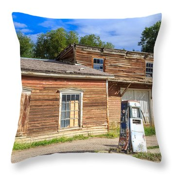 Abandoned Mining Buildings Throw Pillow