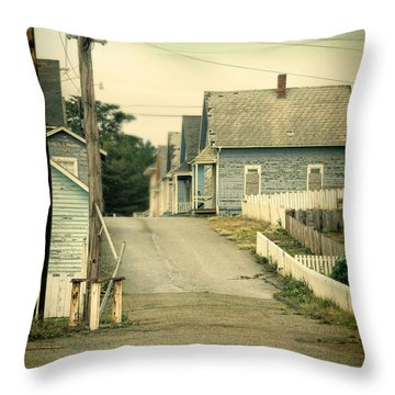 Abandoned Shacks Throw Pillow by Jill Battaglia