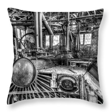Abandoned Steam Plant Throw Pillow