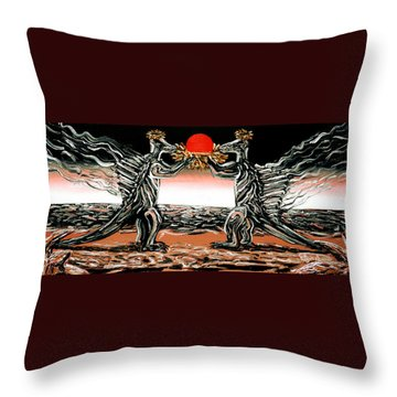 Abiogenic Memetics  Throw Pillow