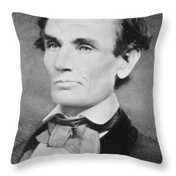 Abraham Lincoln Throw Pillow by Unknown