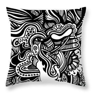 Abstract Throw Pillow by HD Connelly