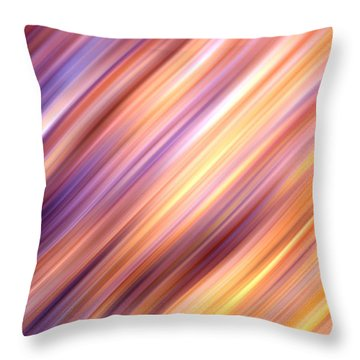 Abstract  Throw Pillow by Les Cunliffe