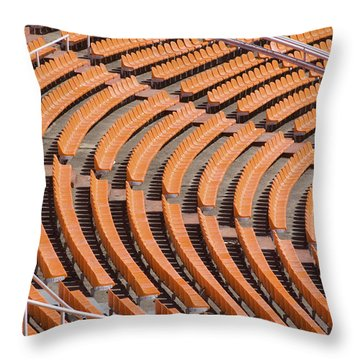 Abstract Pattern - Rows Of The Stadium's Seats Throw Pillow