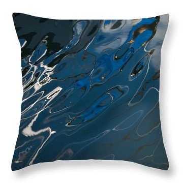 Throw Pillow featuring the photograph Abstract Reflection by Jani Freimann