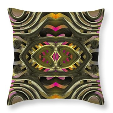Abstract Rhythm - 28 Throw Pillow by Hanza Turgul