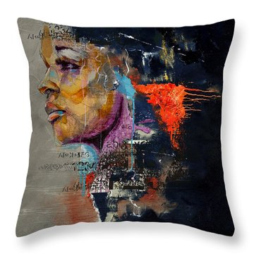 Abstract Women 015 Throw Pillow by Corporate Art Task Force