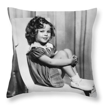Actress Shirley Temple Throw Pillow