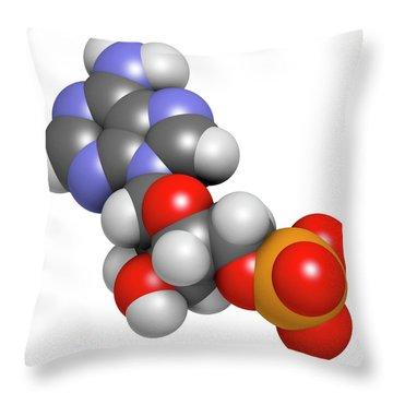 Adenosine Triphosphate Throw Pillows