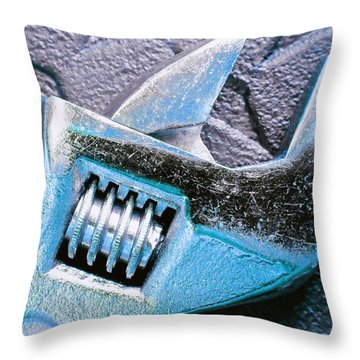 Throw Pillow featuring the photograph Adjustable Wrench D by Laurie Tsemak