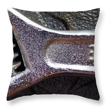 Adjustable Wrench Q Throw Pillow