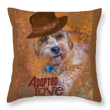 Adopted With Love Throw Pillow