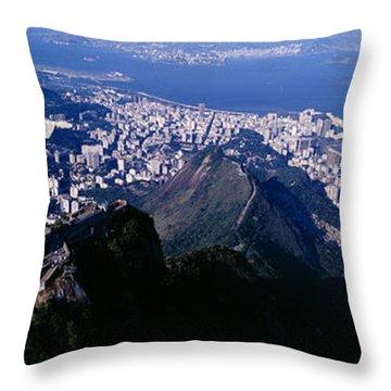 Aerial, Rio De Janeiro, Brazil Throw Pillow