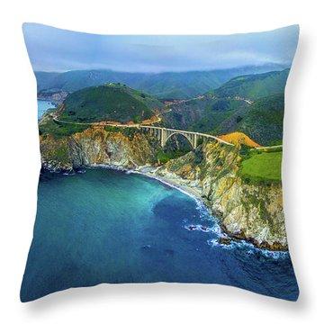 Bixby Bridge Throw Pillows