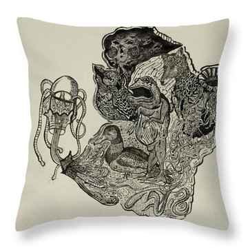 Fish Maze Throw Pillows