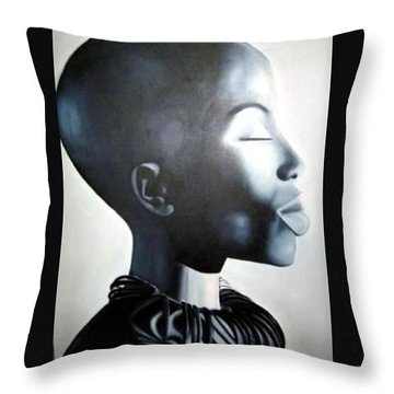 African Elegance - Original Artwork Throw Pillow