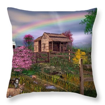 After The Storm Throw Pillow by Mary Almond
