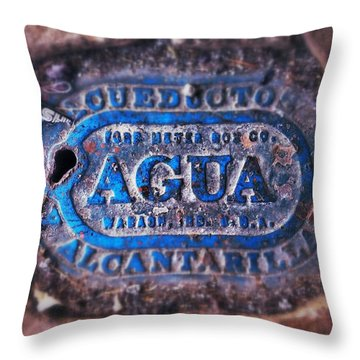 Agua Throw Pillow by Olivier Calas