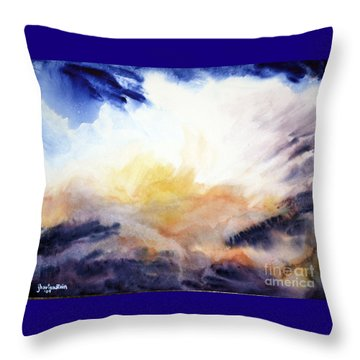 Throw Pillow featuring the painting Air Lily by Joan Hartenstein