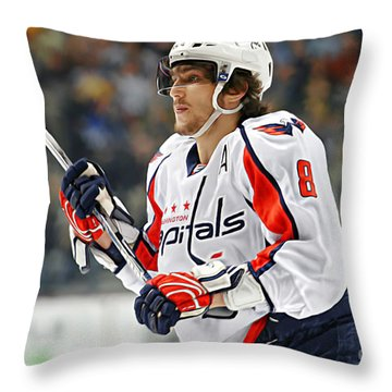 Alexander Ovechkin Throw Pillow by Don Olea