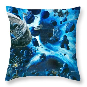 Alien Pirates  Throw Pillow by Murphy Elliott