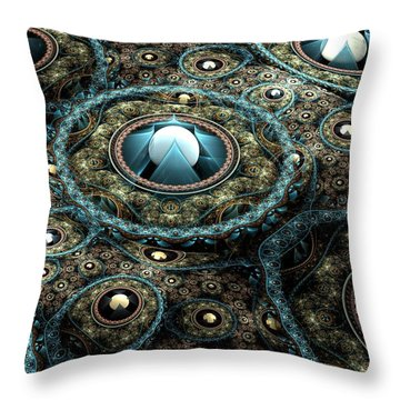 Alien Station Throw Pillow