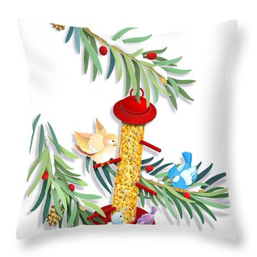 All About Sharing Throw Pillow