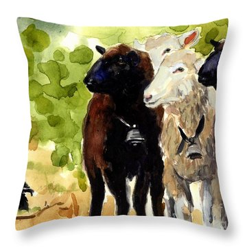 All Eyes Throw Pillow by Molly Poole