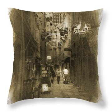 Alley Throw Pillow by Cecil Fuselier